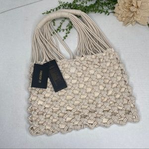 Forever 21 Macrame Knit Knotted Handbag NWT